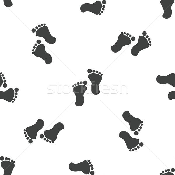 Lábnyom minta kép emberi lábnyomok terv Stock fotó © ylivdesign