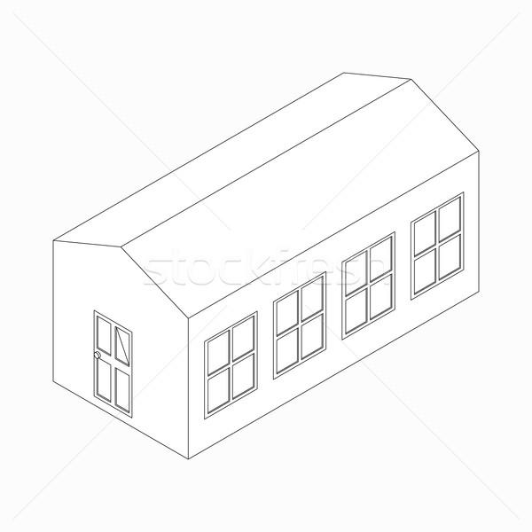 Hosszú épület ikon izometrikus 3D stílus Stock fotó © ylivdesign