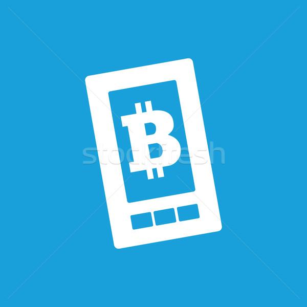 Bitcoin on screen icon Stock photo © ylivdesign