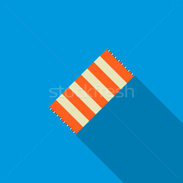 Beach towel icon, flat style Stock photo © ylivdesign