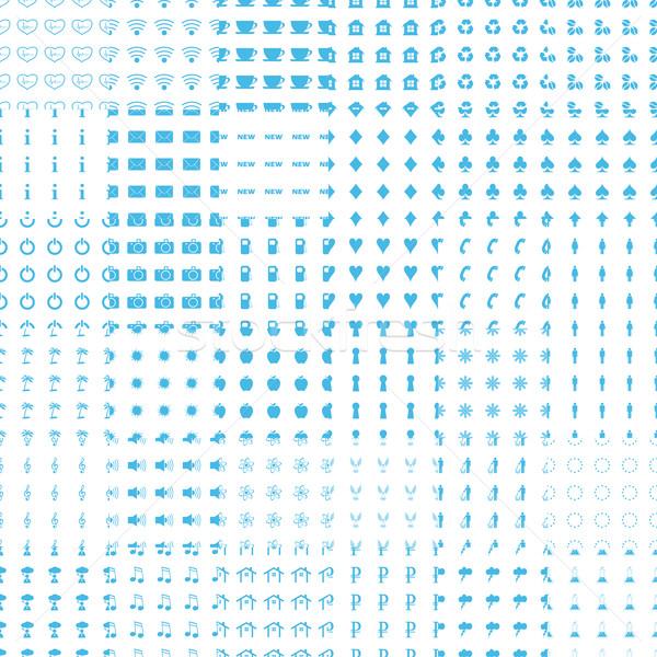 Nagy végtelen minta szett fehér kék web design Stock fotó © ylivdesign