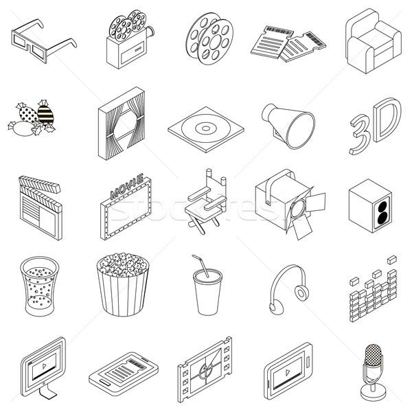 Kina izometryczny 3D stylu biały Zdjęcia stock © ylivdesign