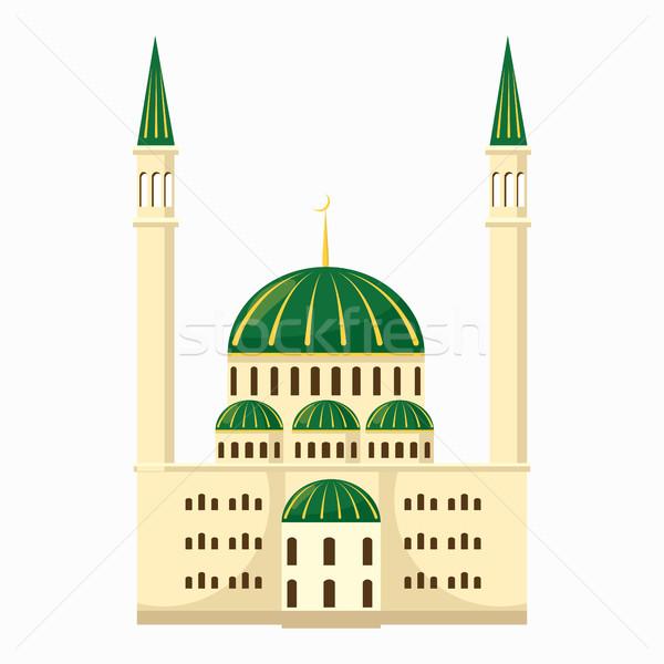 モスク アイコン 漫画 スタイル 孤立した 白 ストックフォト © ylivdesign