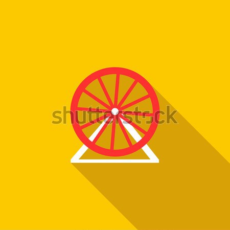 Circus cannon icon, flat style Stock photo © ylivdesign