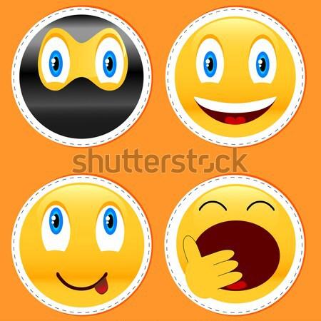új legjobb mosoly fehér arc absztrakt Stock fotó © ylivdesign