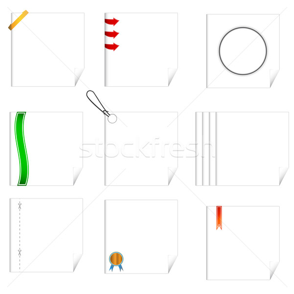 Set of writing-book sheets Stock photo © ylivdesign