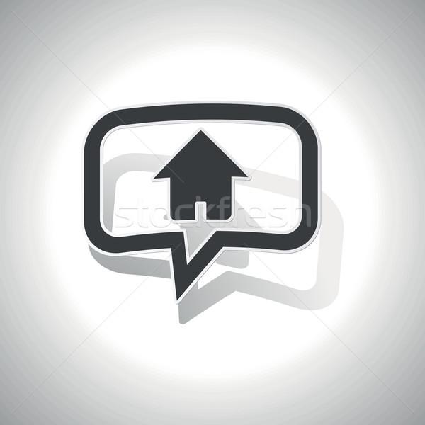 Home messaggio icona chattare bolla casa ombra Foto d'archivio © ylivdesign