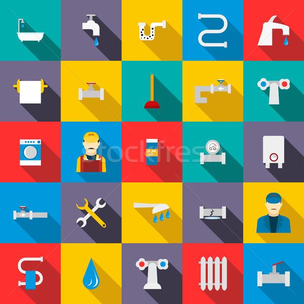 Sanitair stijl brand badkamer dienst Stockfoto © ylivdesign