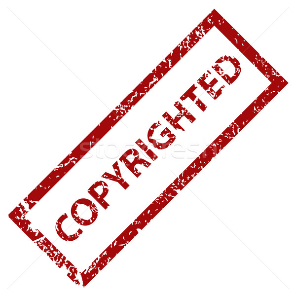 Copyrighted stamp Stock photo © ylivdesign