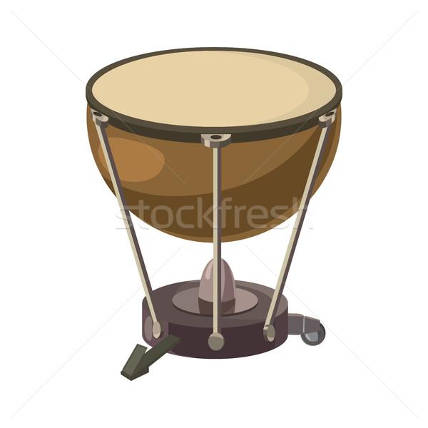 ドラム アイコン 漫画 スタイル 白 音楽 ストックフォト © ylivdesign