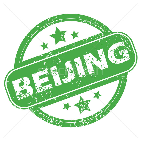 Peking zöld bélyeg pecsét név csillagok Stock fotó © ylivdesign