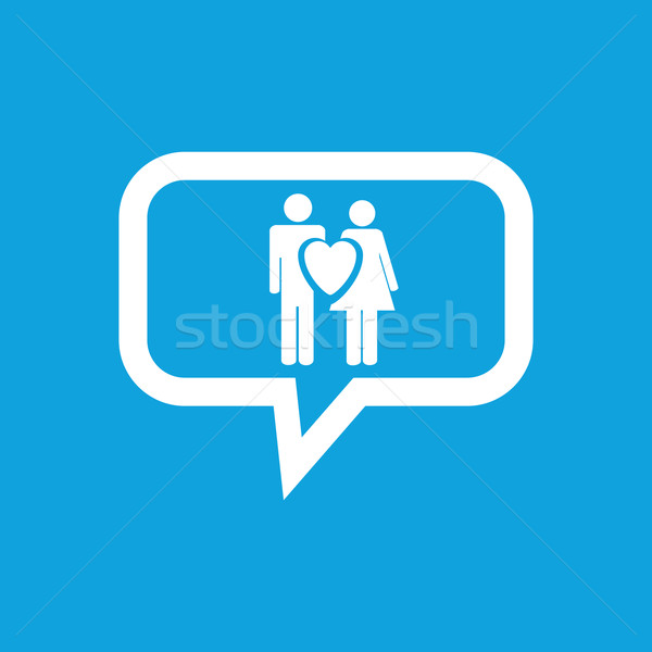 Love couple message icon Stock photo © ylivdesign
