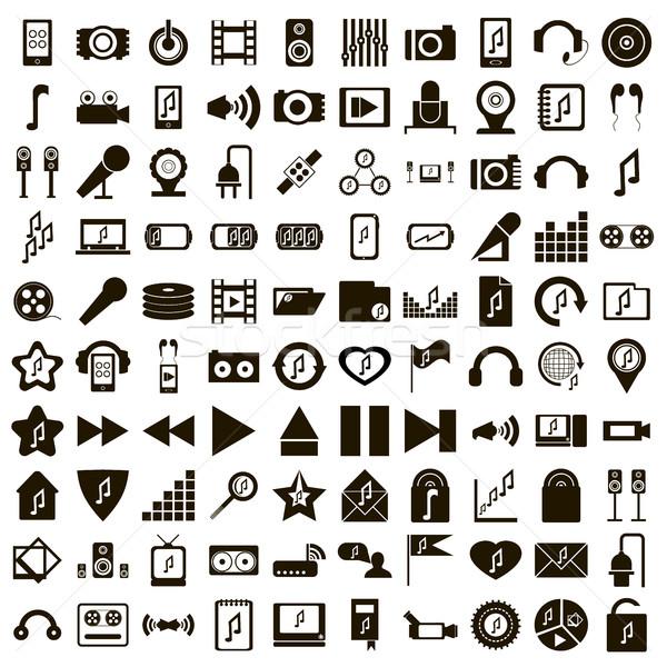 100 エコ 音楽 セット 単純な スタイル ストックフォト © ylivdesign