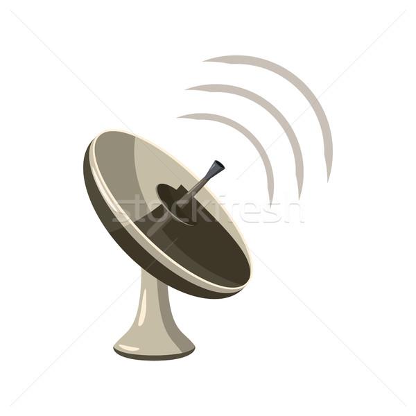 Radar ikona cartoon stylu odizolowany biały Zdjęcia stock © ylivdesign