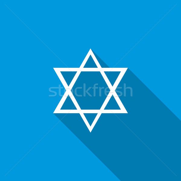 Stock fotó: Csillag · ikon · stílus · kék · felirat · tetoválás
