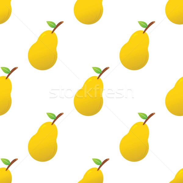 груши шаблон вектора изображение продовольствие Сток-фото © ylivdesign