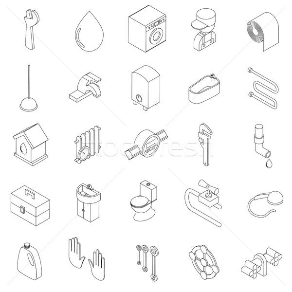 санитарный инженерных изометрический 3D стиль Сток-фото © ylivdesign