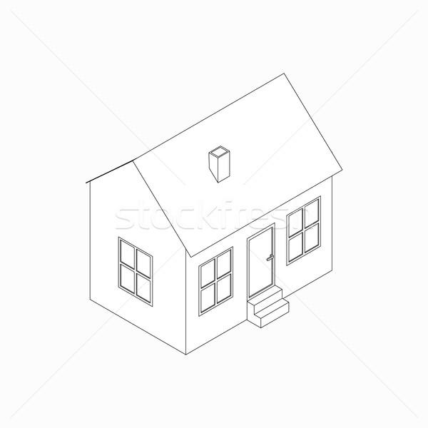 Bangalô ícone isométrica 3D estilo tubo Foto stock © ylivdesign