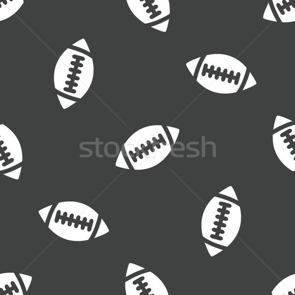 Rugby ball wzór obraz piłka nożna zespołu tapety Zdjęcia stock © ylivdesign