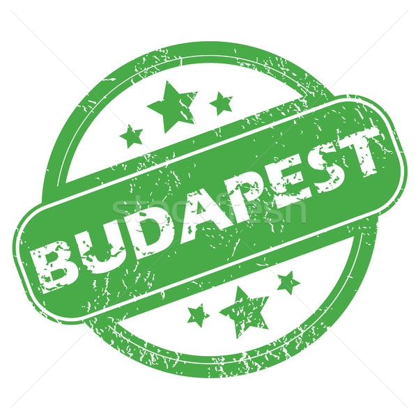Budapeşte yeşil damga ad Yıldız Stok fotoğraf © ylivdesign