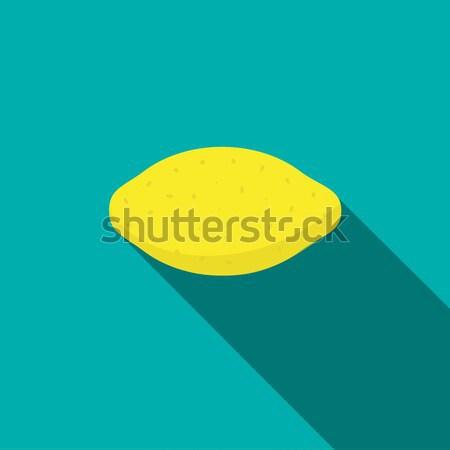 Lemon icon, flat style Stock photo © ylivdesign