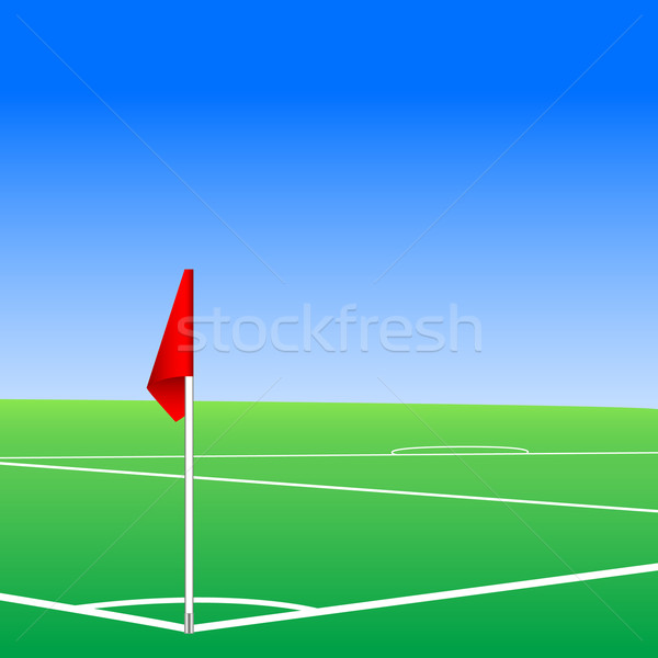 Illustration of  a football pitch corner flag Stock photo © ylivdesign