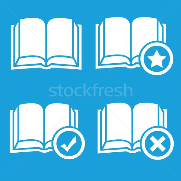 Livros preferências favorito símbolos Foto stock © ylivdesign