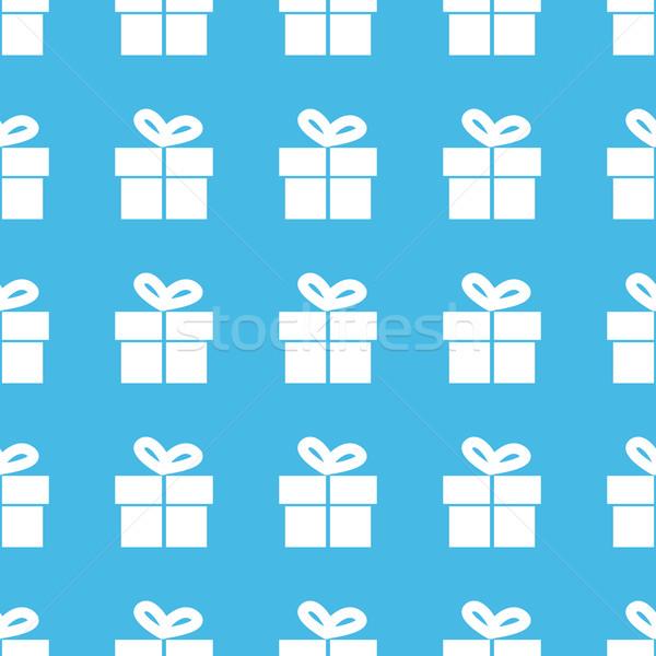 Gift box straight pattern Stock photo © ylivdesign