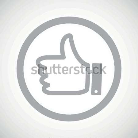Grey like sign icon Stock photo © ylivdesign