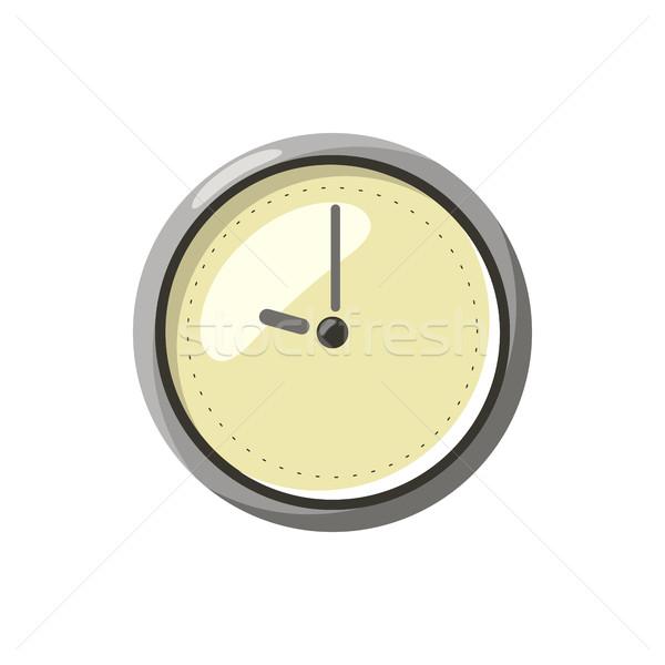 Clock icon, cartoon style Stock photo © ylivdesign