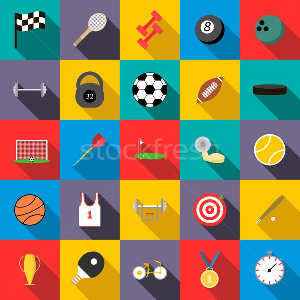 Sports set icons Stock photo © ylivdesign