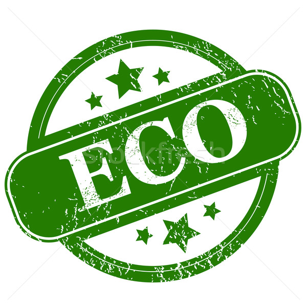 Grunge eco icon Stock photo © ylivdesign