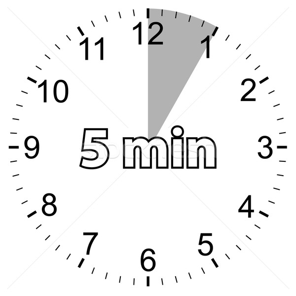 Five minutes Stock photo © ylivdesign