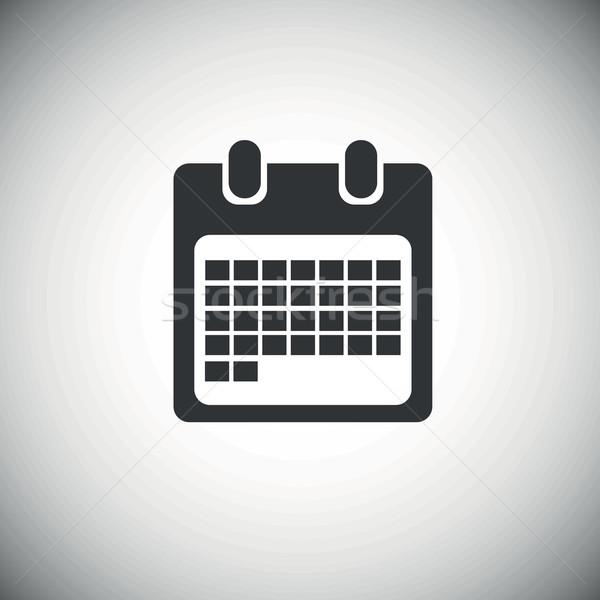 Fekete hónap naptár ikon oldal hálózat Stock fotó © ylivdesign