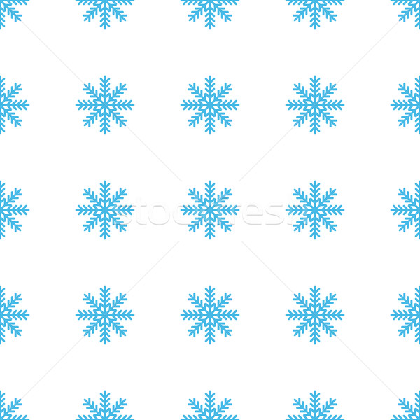 Unico fiocco di neve bianco blu web design Foto d'archivio © ylivdesign
