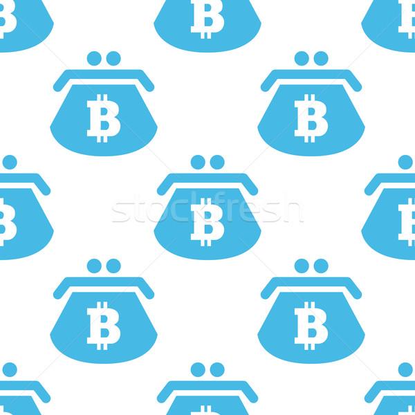 Flat bitcoin purse pattern Stock photo © ylivdesign