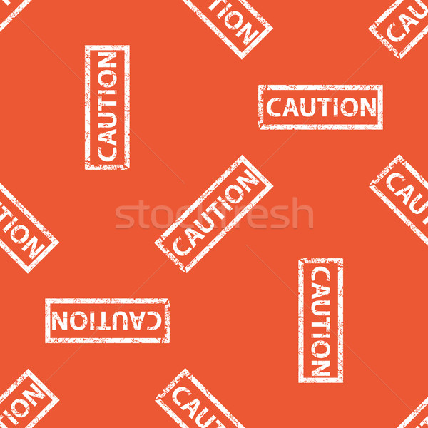 Orange CAUTION stamp pattern Stock photo © ylivdesign