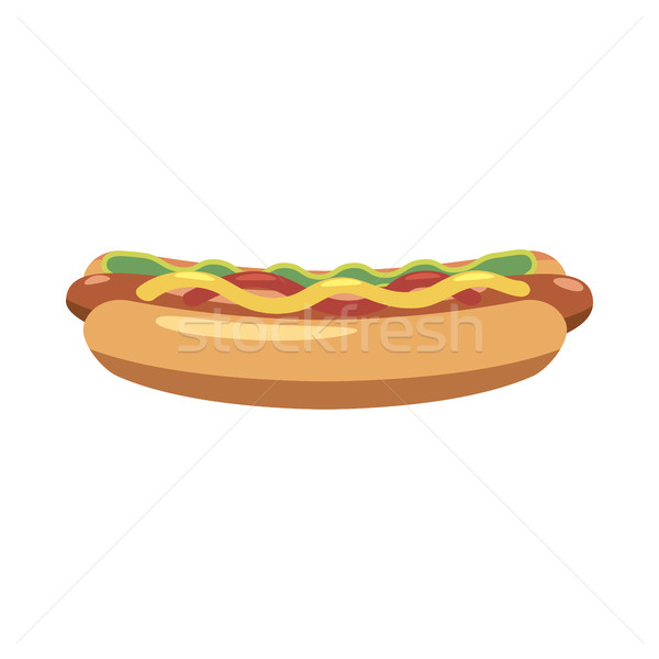Hotdog icon, cartoon style Stock photo © ylivdesign