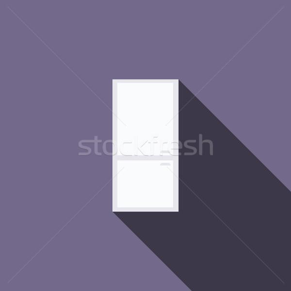 Refrigerator icon, flat style Stock photo © ylivdesign