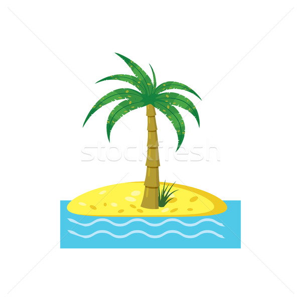 Palm tree icon, cartoon style  Stock photo © ylivdesign