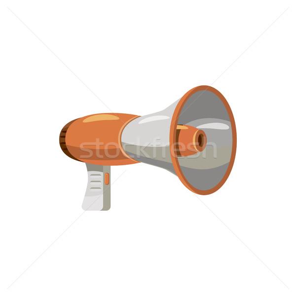 Megaphone icon, cartoon style Stock photo © ylivdesign