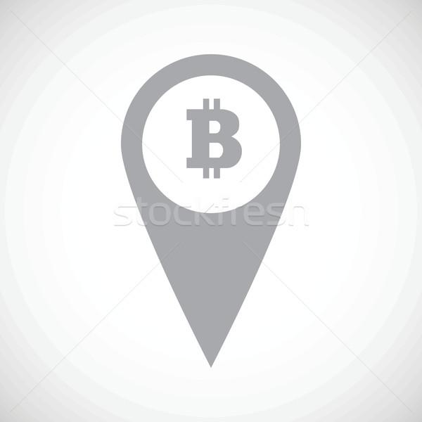 Bitcoin ikon egyszerű kép térkép jelző Stock fotó © ylivdesign