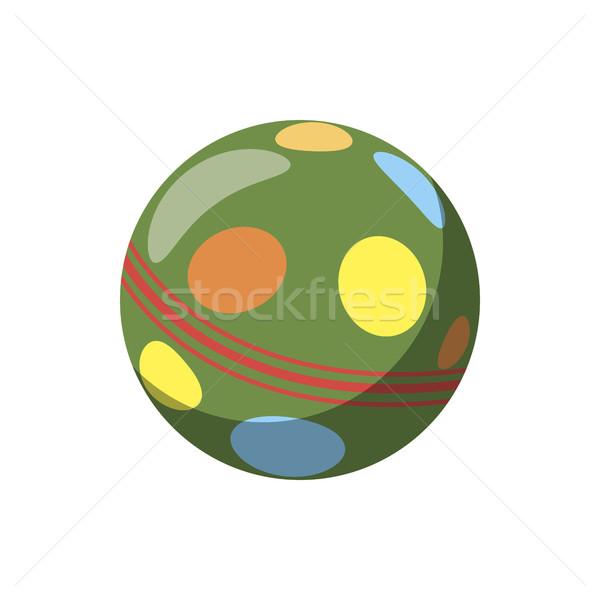 Kolorowy piłka ikona cartoon stylu biały Zdjęcia stock © ylivdesign