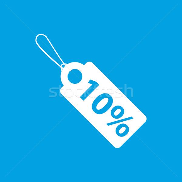 Price tag white icon Stock photo © ylivdesign