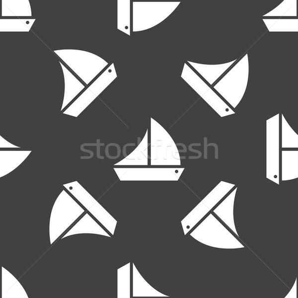 帆船 パターン シルエット セーリング ボート スポーツ ストックフォト © ylivdesign