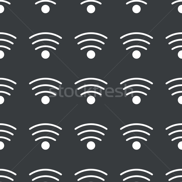 Straight black Wi-Fi pattern Stock photo © ylivdesign