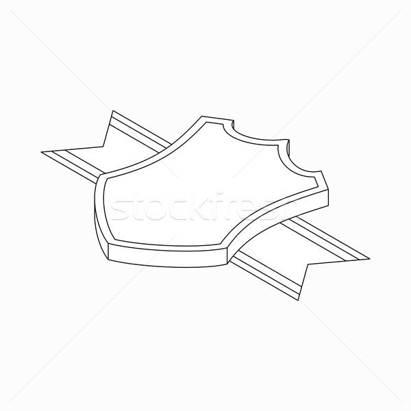 Schild lint icon isometrische 3D stijl Stockfoto © ylivdesign