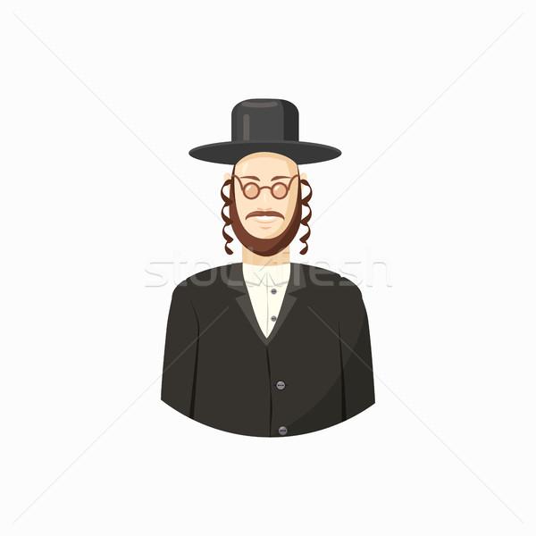 Jew man icon, cartoon style Stock photo © ylivdesign