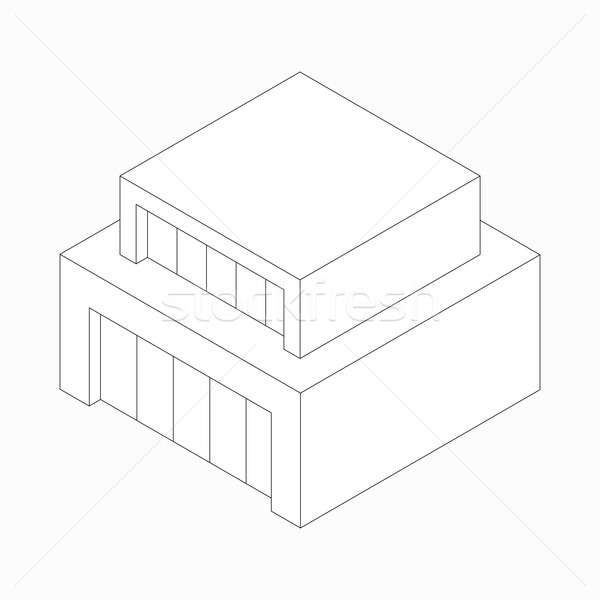 Modern abstract house icon, isometric 3d style  Stock photo © ylivdesign
