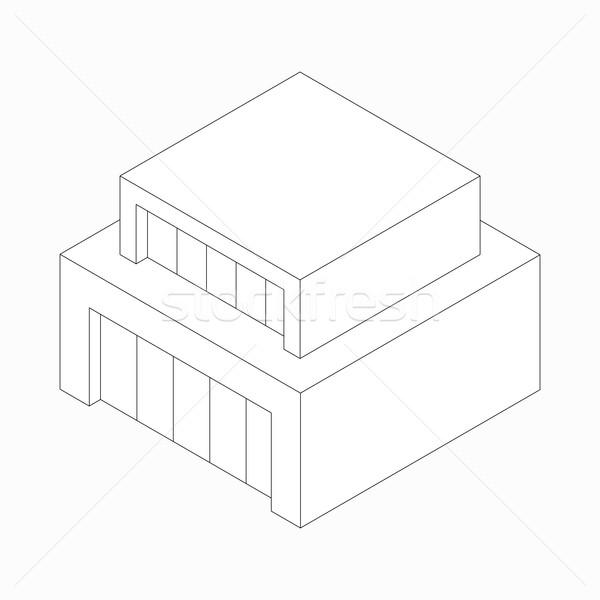 現代 抽象的な 家 アイコン アイソメトリック 3D ストックフォト © ylivdesign